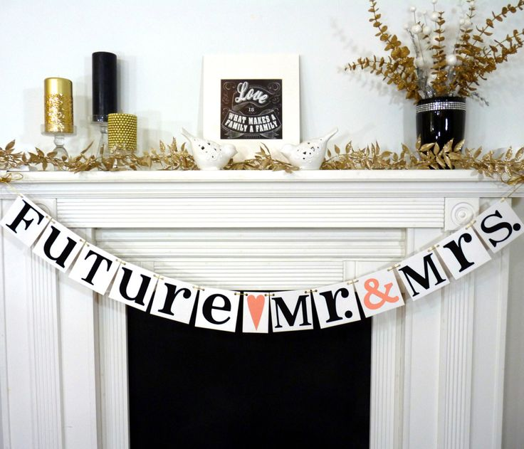 Couples Shower Decoration / Wedding Shower Banner / Future Mr. & Mrs. plus Wedding Date / Wedding Garland / Engagement Party Decor / Custom by BannerCheer on Etsy https://www.etsy.com/listing/127792016/couples-shower-decoration-wedding-shower