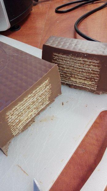 Huge chocolate KitKat bar