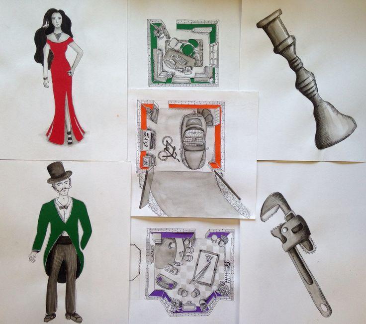 Ilustraciones Juego Clue