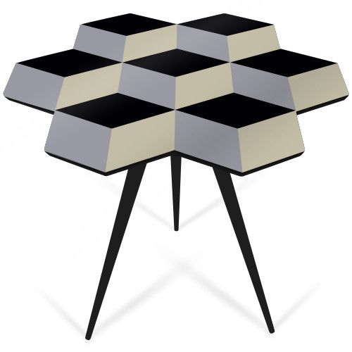 Cube 7 table, handmade in East London by ROCKMAN AND ROCKMAN, design your own here: https://www.emblzn.com/brand/rockman-rockman