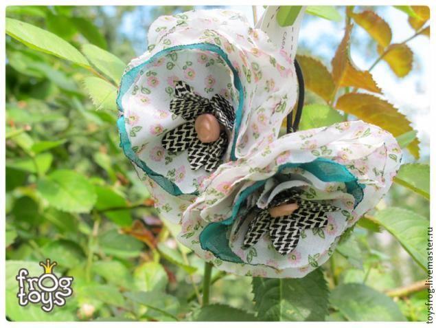 Летние резиночки для волос своими руками - Ярмарка Мастеров - ручная работа, handmade