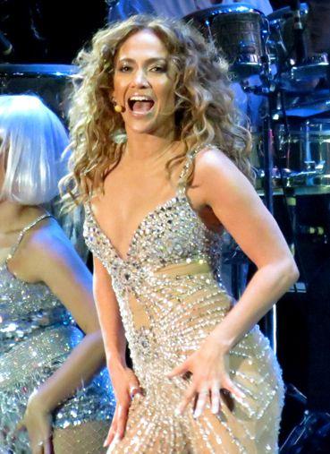 Jennifer Lopez performing during her Dance Again World Tour, June 2012.