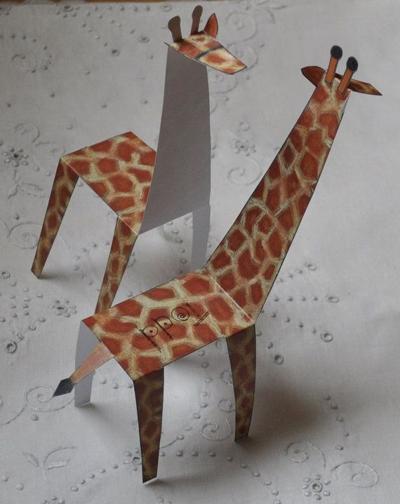 Giraffe Party Place Cards Instant Download pdf