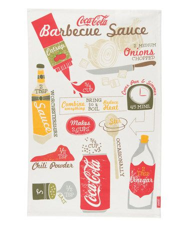 Look what I found on #zulily! Coca-Cola 'Barbecue Sauce' Dish Towel by Coca-Cola  #zulilyfinds