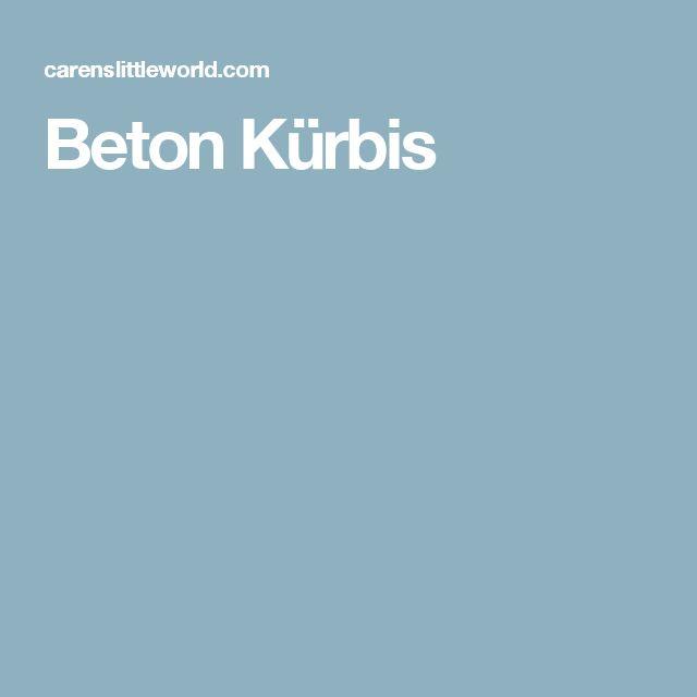 Beton Kürbis