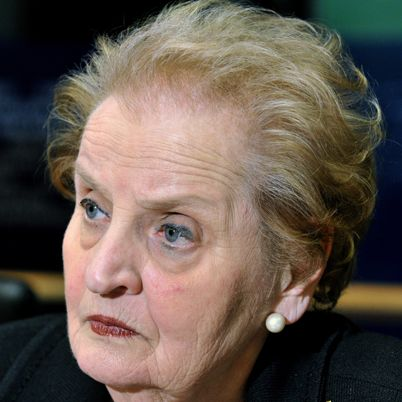"Madeleine Albright. ""I was taught to strive not because there were any guarantees of success but because the act of striving is in itself the only way to keep faith with life."" . . . (and my favorite quote) ""There is a special place in hell for women who don't help other women."""