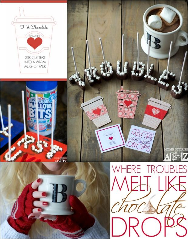 Lettered Hot Chocolate on a Stick Recipe: Melt Your Troubles Away - Home Stories A to Z
