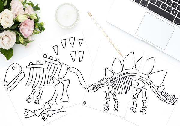 Diy Und Printable Dino Knochen Aus Salzteig Inabox De Kindergeburtstage Kindergeburtstagsparty Dinosaurier Party