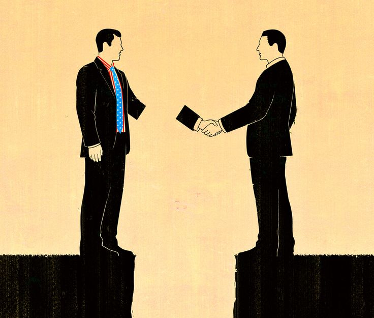 Joey Guidone - Bad trade deals for the United States. Editorial, Surrealism, Conceptual, Digital, Agreement, Handshake, Unfair