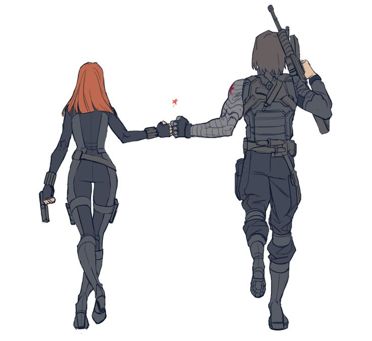 Soviet Bros at its finest <3 If we get a Winter Soldier and/or Black Widow movie then this is what I want to see.