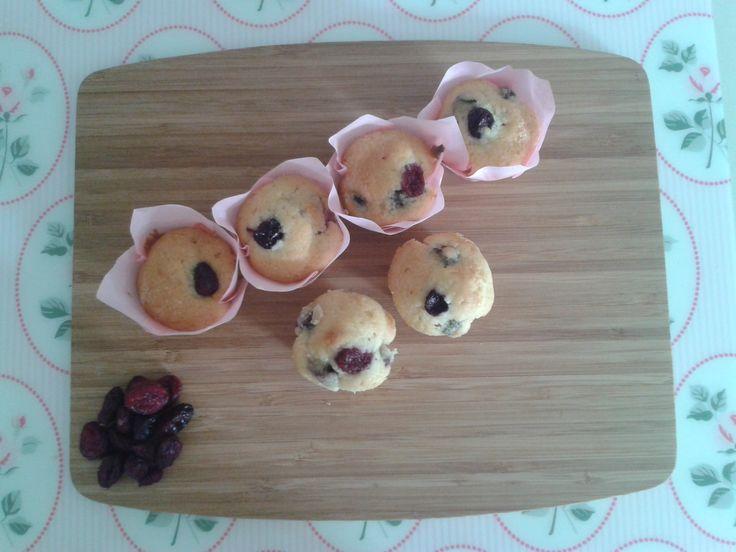 Minimuffins de vainilla con arándanos