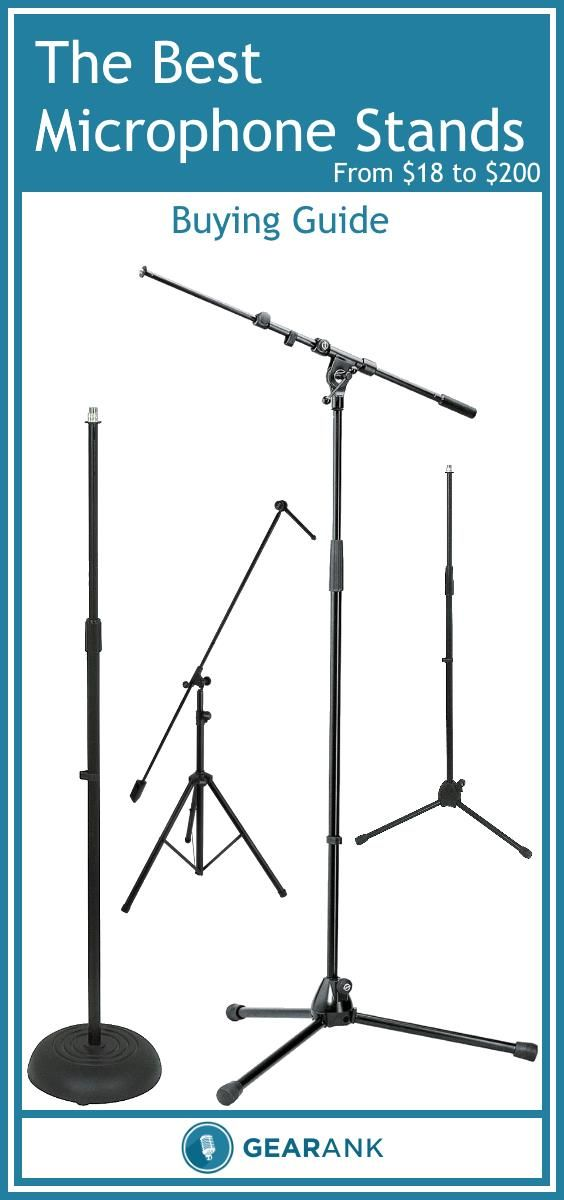 Detailed Guide to The Best Mic Stands.  This guide is designed to help anyone who wants to get some new full-sized microphone stands either for stage or studio use.