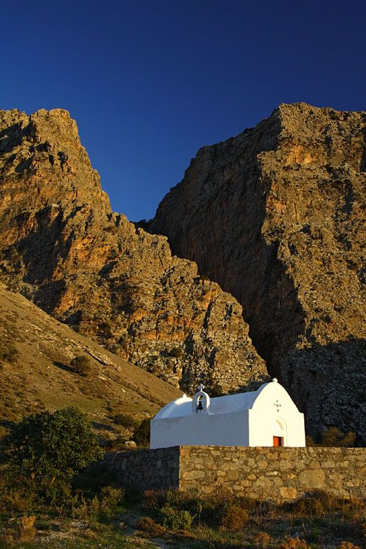This is my Greece | A chapel in the entrance of Samaria Canyon, the longest in Europe (18 km), on the island of Crete