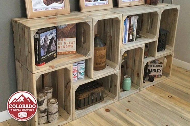Best 25 crate desk ideas on pinterest crates wooden for Apple crate furniture