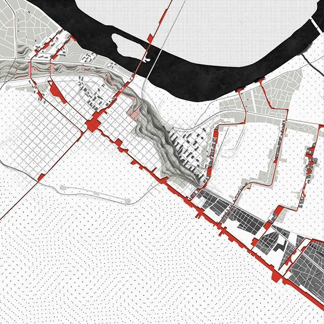 Organic Sequences | Piacenza Master Plan Circulation Mapping  #mapping #urbanplanning #urbanism #masterplan #diagram @act_of_mapping #ad