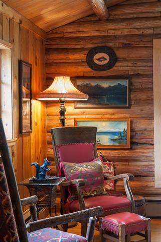 corner of a cabin in Livingston, Montana