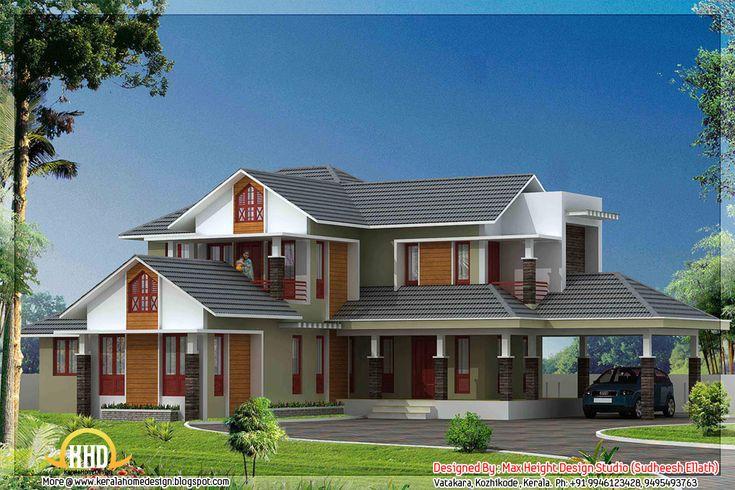 Mejores 185 im genes de casas en pinterest arquitectura for Kerala 3d piani di casa