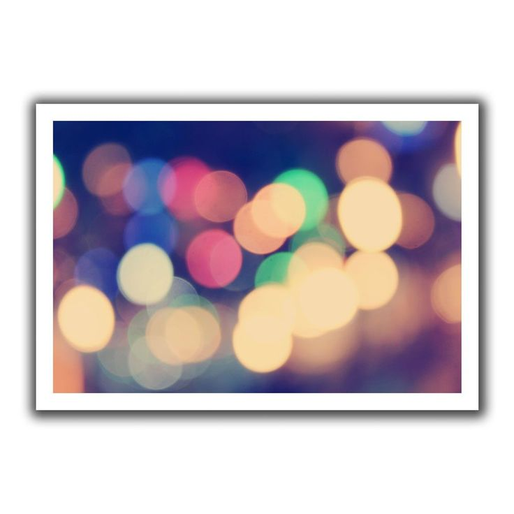 'Blurred Lights' by John Black Canvas Poster