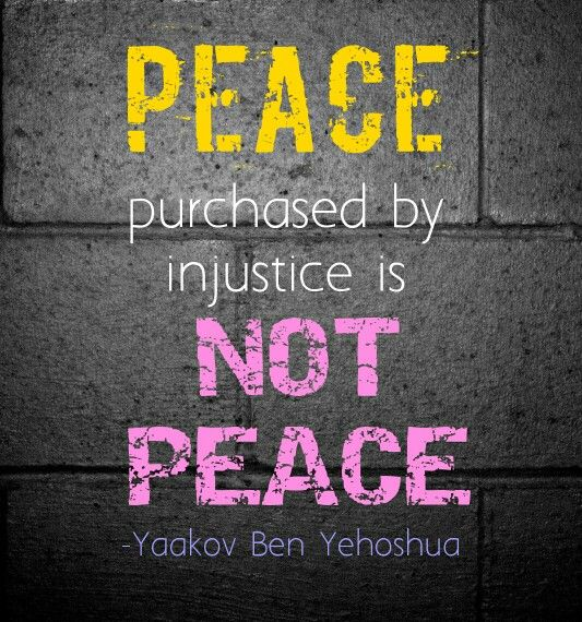 Not Peace