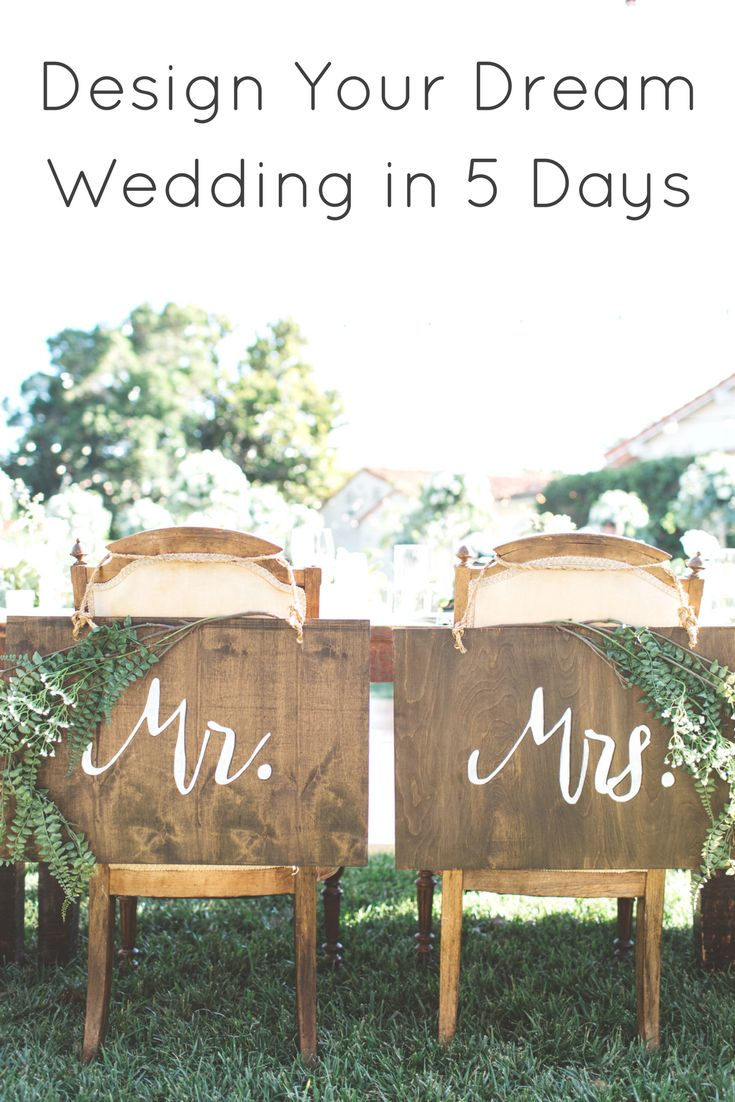 """Are you struggling to bring your wedding vision to life or worried that your wedding decor won't all come together the way you want it to? Click through to get my step-by-stp """"Design Your Wedding in 5 Days"""" plan for free!"""