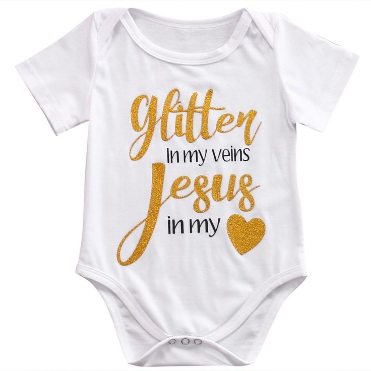 Glitter In My Veins & Jesus In My Heart Onesie Plus Girl Headband Girls Newborn Infant Clothes Sets Baby Shower Coming Home Gifts 0-6mo. available for purchase at thenordictradingco.com Free Headband with purchase. #babygirlsclothes #christianbabyonesie #southernbabygirl