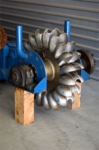 water turbine for off the grid electricity. :)