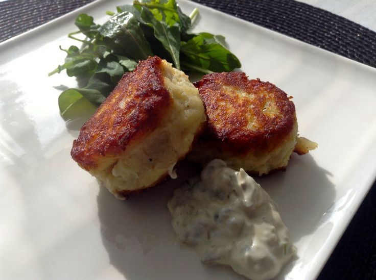 Cod potato cakes - Tasty low FODMAP side dish or lunch similar to crab cakes but with a milder fish flavor.
