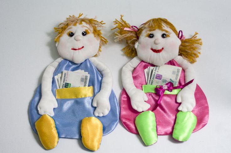 Веселые детишки-копилки для денежных вкладов на мальчика или девочку. #свадьбы #для_денег #за_мальчика #за_девочку #ручная_работа #soprunstudio
