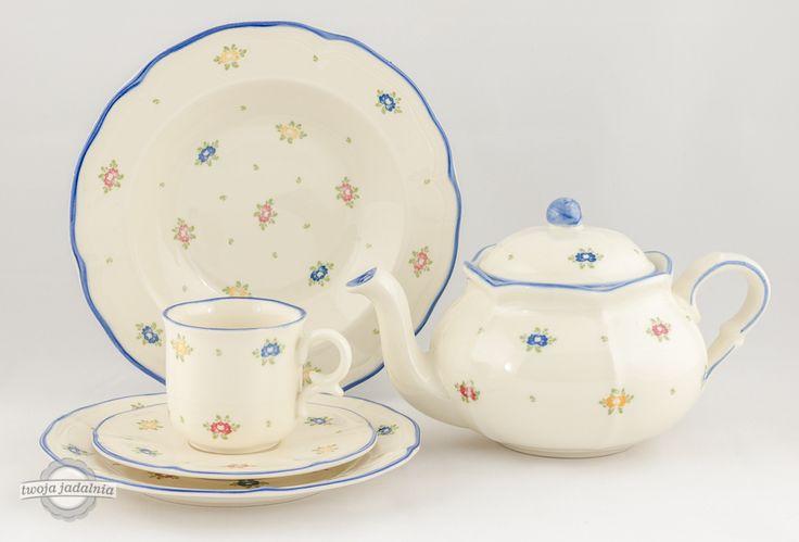 "Kto ma ochotę na herbatkę? Zestaw ""Petite Rose"" Zeller Keramik."