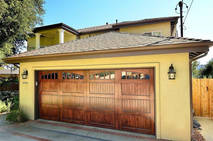 334 best garage doors images on pinterest driveway ideas garage door update and garage ideas - Double wooden garage doors ...
