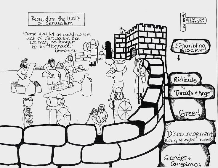 nehemiah coloring pages
