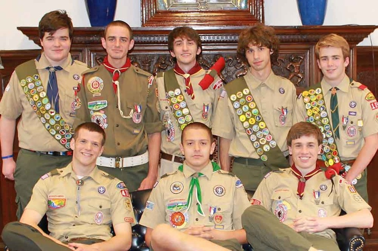 Eight members of Devon Prep's Class of 2012, (nearly 20% of the Class),  pursued and achieved the highest rank in the Boy Scouting of America program, the rank of Eagle Scout. Each year about 5% of Boy Scouts do the same. Over 2 million men have achieved this distinction since the inception of the Eagle Scout rank 100 years ago.: Devon Prep, Eagle Scout, Scouts Rank, Boys Scouts, Boy Scouting, Boy Scouts, Eagles Scouts, America Program, 100 Years