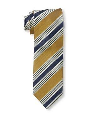 61% OFF Massimo Bizzocchi Men's Stripe Tie, Ochre/Navy