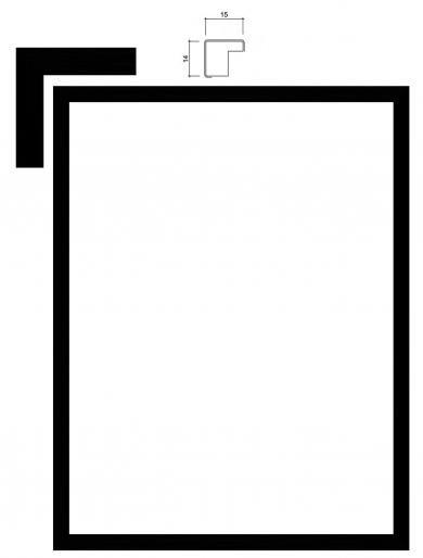 INCADO - A4 ramme 21x29,7 Slim Black
