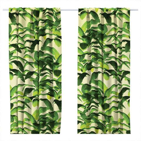 17 Best images about Curtains on Pinterest | Green banana, Tropical curtains and Hawaiian homes