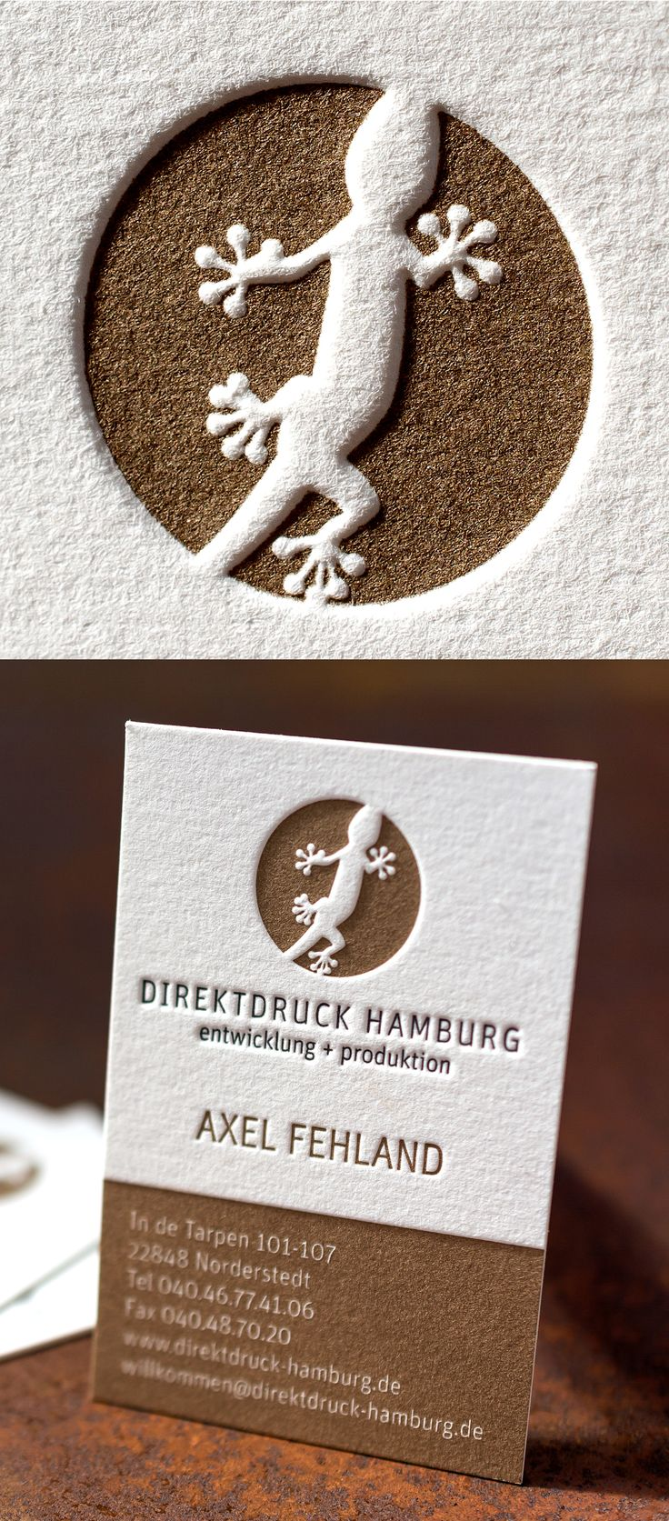 Finest Letterpress with deep impressions  | Letterpress Manufaktur Hamburg