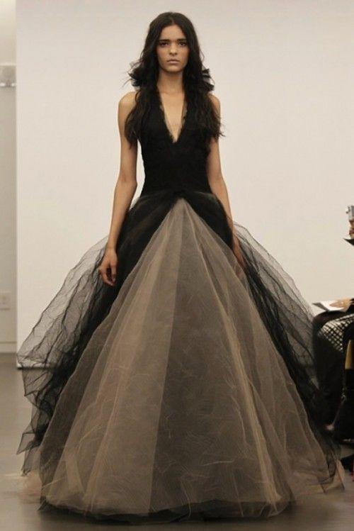 Stunning Art black and white wedding wedding gown design hunting