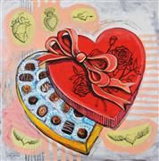 Original art for sale at UGallery.com | Box of Chocolates by Kira Yustak | : $950 | mixed media artwork | http://www.ugallery.com/mixed-medi...