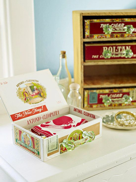 cigar box shelf: Ideas For Cigars Boxes, Crafts Ideas, Recipes Cards, Storage Boxes, Plywood Shelves, Boxes Crafts, Drawers Pull, Recipes Boxes, Cards Holders