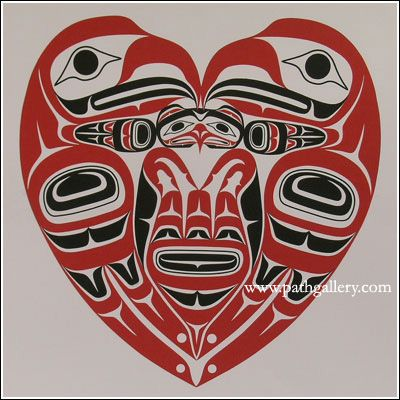 'Eagle's Heart' by Wayne Edenshaw, Haida