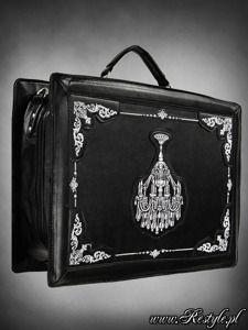 "Suitcase ""CHANDELIER"" gothic satchel bag gothic lolita embroidery"