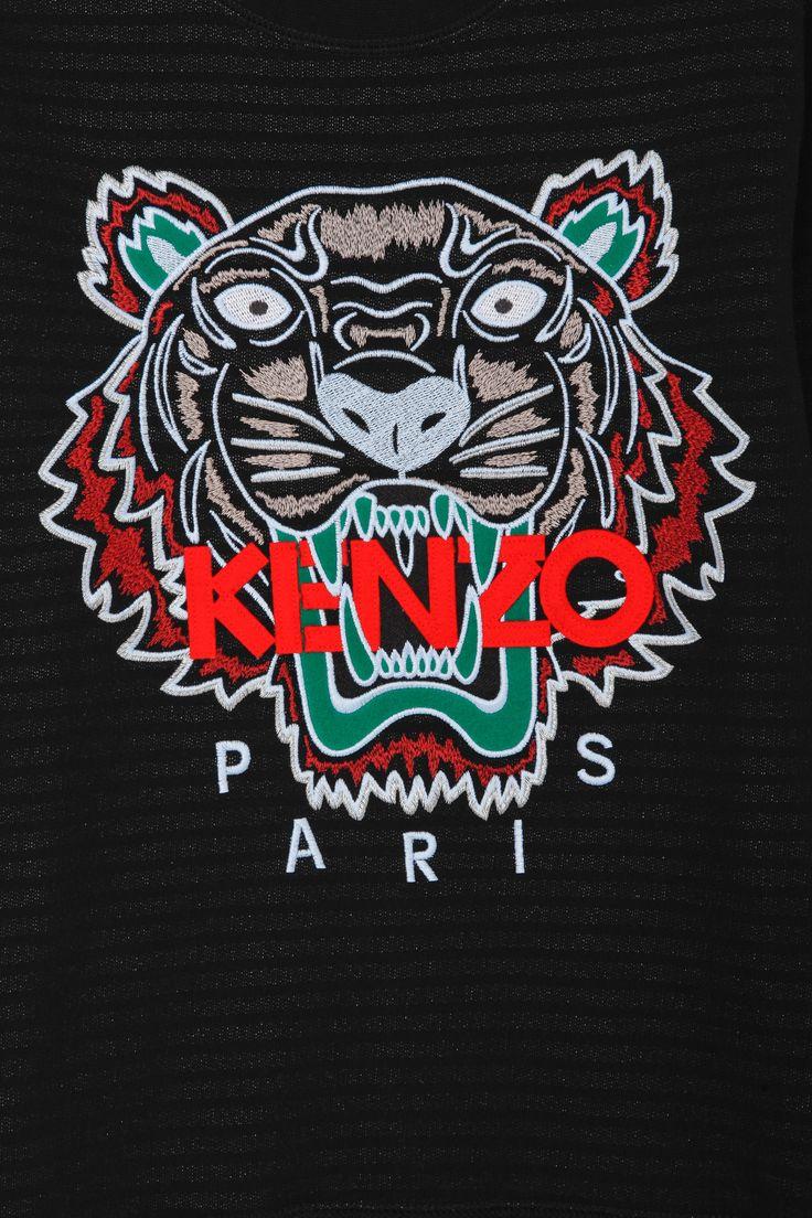 Kenzo Kenzo Tiger Embellished Sweater in Black for Men   Lyst