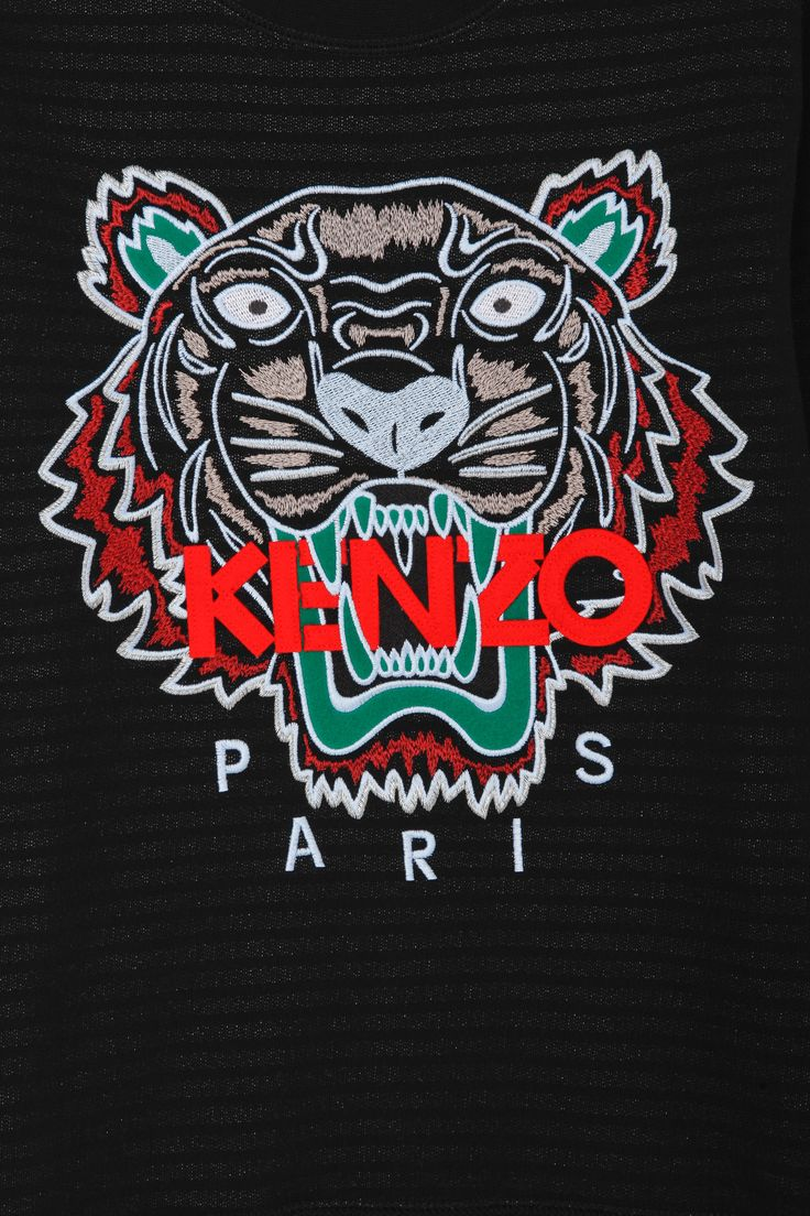 Kenzo Kenzo Tiger Embellished Sweater in Black for Men | Lyst