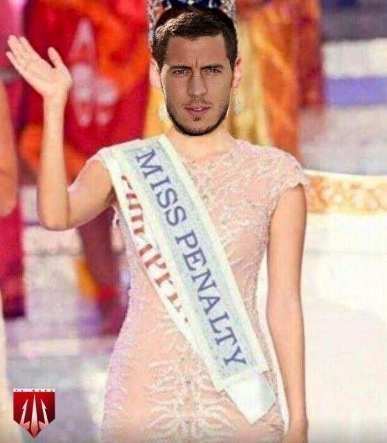 Belg nie wykorzystał już dwóch rzutów karnych w tym sezonie • Eden Hazard stał się Miss Penalty • Wejdź i zobacz mem piłkarski >> #EdenHazard #Hazard #Chelsea #Soccer #Sport #Football #Piłkanożna