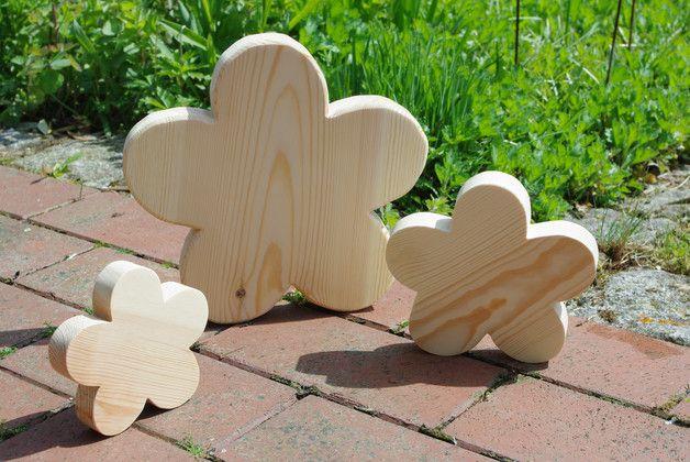 Deko-Objekte - Holzblumen - ein Designerstück von Andreas-KreativWelt bei DaWanda
