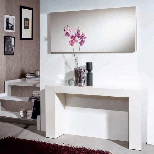 Consola y espejo nova de expormim de madera de roble for Espejos para consolas