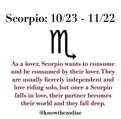 Falling in love with a scorpio man