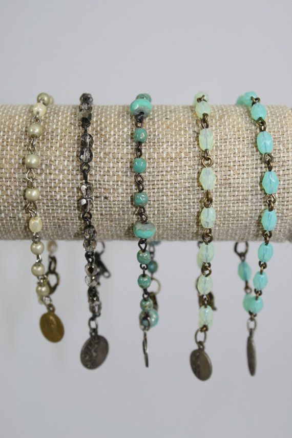 Rosary Bracelet with REAL VINTAGE Medal by Dallysisters on Etsy, $32.00