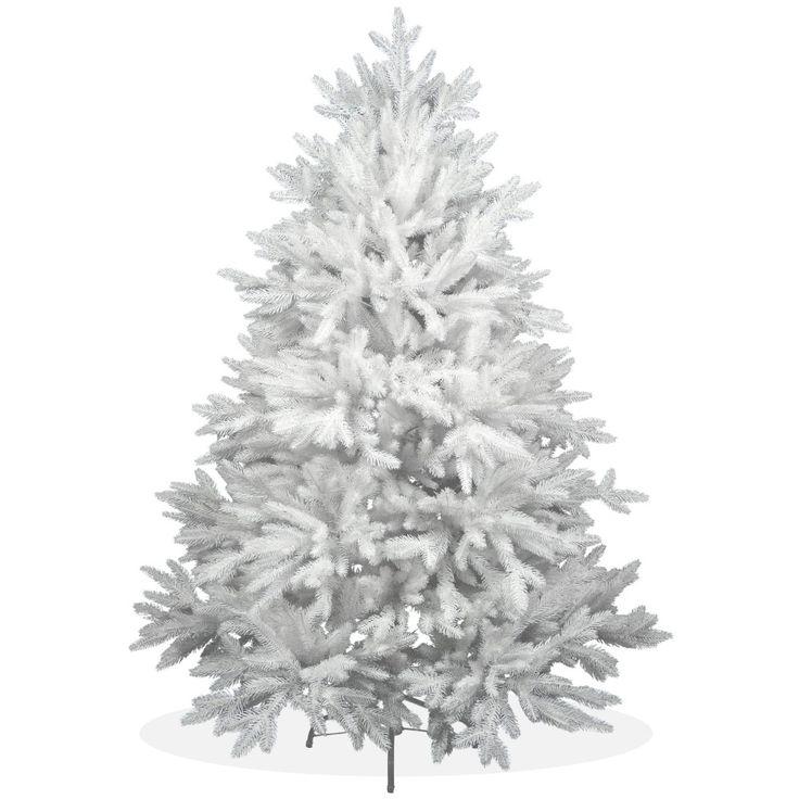 Künstlicher Weihnachtsbaum 150cm DeLuxe PE Spritzguss schneeweißer Tannenbaum Nordmanntanne, Christbaum