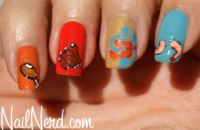 LOL! BBQ nails: Bbq Fun, Beautiful Nails, Bbq Inspired, Bbq Apparel, Hot Nails, Bbq Nails, Nail Art Ideas, Eat Photos, Art Check